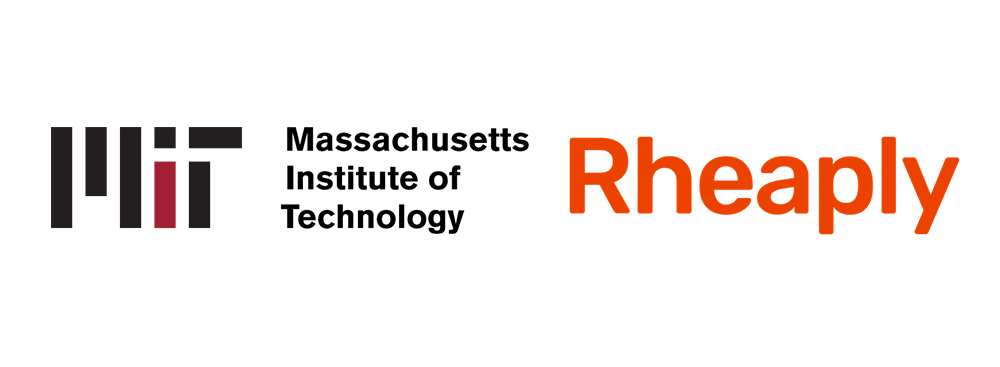 rheaply and mit logo spelled out