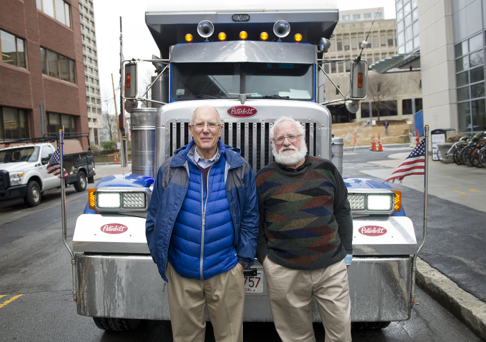 Several years ago, Daniel Cohn (left) and Leslie Bromberg took on the challenge of designing a low-emissions, fuel-efficient replacement for the polluting diesel engines traditionally viewed as the only viable option for powering heavy-duty trucks...