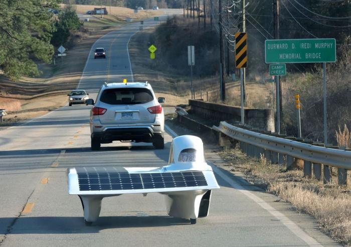 In January, Flux and the MIT Solar Electric Vehicle Team went on a road-testing trip in Georgia.Photo courtesy of the MIT Solar Electric Vehicle Team.