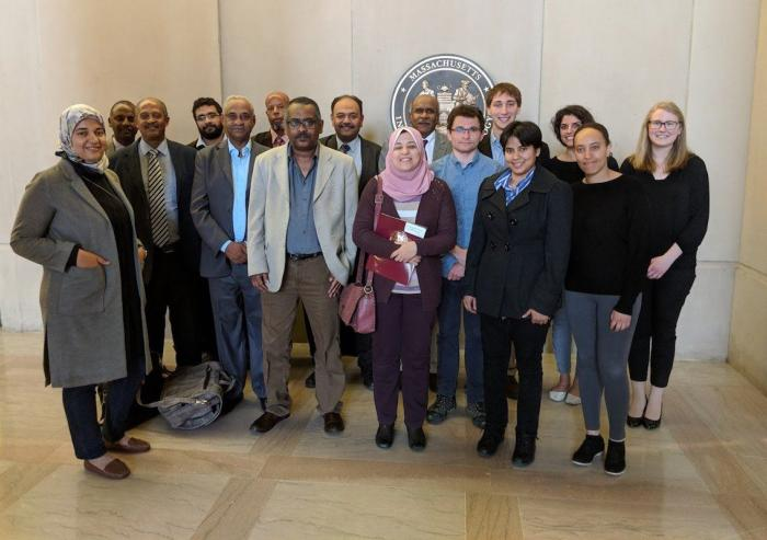 Participants from Egypt, Ethiopia, and Sudan convened at MIT for a two-day event on the future of the Nile water, hosted by Professor Elfatih Eltahir. Photo: Stephanie M. McPherson