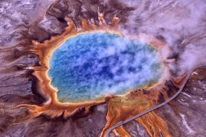 Extremophiles are capable of living in some of the harshest locations on Earth, such as the Grand Prismatic Spring at Yellowstone National Park.Photo: Jim Peaco/National Park Service