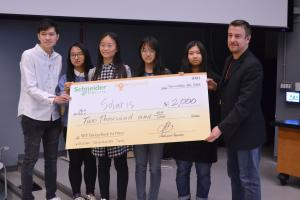 Team Solaris won the EnergyHack's first prize for their development on an innovative approach to green and energy efficient buildings.Image courtesy of MIT Energyhack