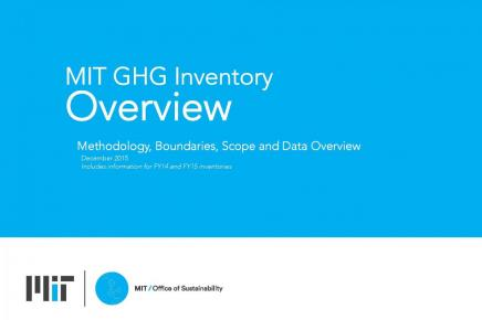 MIT GHG Inventory Overview
