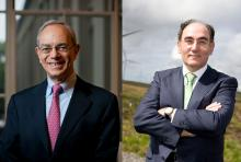 MIT President L. Rafael Reif (left) and Iberdrola Chairman and CEO Ignacio S. GalánPhotos by Dominick Reuter (left) and courtesy of Iberdrola (right)